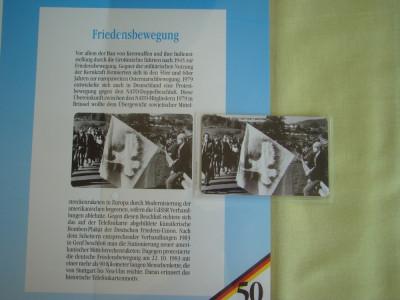 """3 Cartele Telefonice """"50 Jahre Deutschland"""" - Exponate NOI / 2 foto"""