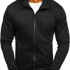 Bluză cu fermoar bărbați negru Bolf B002