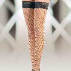 Ciorapi Tip Plasa Cu Dantela 5520, Negru - 2