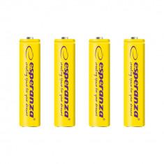 Baterii reincarcabile Ni-MH AAA 1000MAH x4, Esperanza EZA102Y