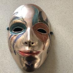 Masca venetiana ornamentala din bronz