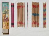 Jucarie veche de colectie joc vechi MAROCCO cu bete din lemn Arta Populara Cluj