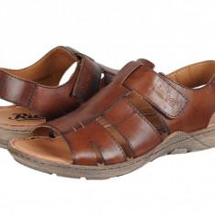Sandale casual piele bărbați Rieker Barcelona maro 2207325