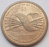 1 Dollar 2010 USA , Sacagawea, The Great Tree of Peace, America de Nord