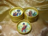 Discuri rondele protectie, bambus, pictate, colectie, cadou, vintage