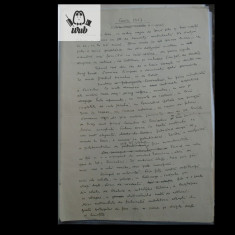 Manuscris/ Articol scris si semnat de Demostene Botez - 5 pag