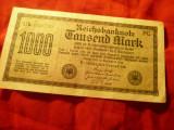Bancnota Germania 1922 - 1000 Marci , serie verde , cal.Buna