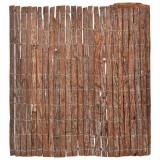 Gard din scoarță de copac, 100 x 600 cm, vidaXL