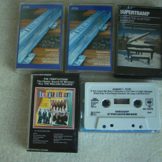 Lot 5 Casete Audio Inregistrate Original - Temptations, Supertramp etc - 4