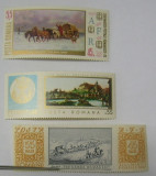 "3 timbre ""Ziua marcii postale romanesti"" - 1967, 1968, 1970"