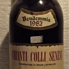 A86 -VIN CHIANTI DOC COLLI SENESI FATTORIA CERCIGNANO recoltare 1982 cl 75 gr 12