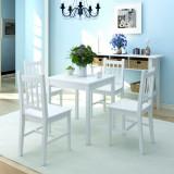 VidaXL Set cu masă și scaune din lemn de pin, 5 piese