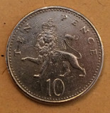 Marea Britanie 10 pence 1992