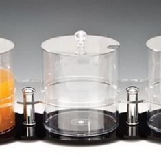 Suport din policarbonat cu trei borcane 2,1 litri. 21x65xH18cm MN0136522 Raki