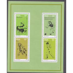 Africa de Sud 1976 - Cricket, sport, bloc neuzat