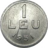 Romania, 1 leu 1951 * cod 86, Aluminiu