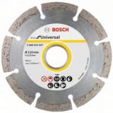 Disc diamantat de taiere segmentat Bosch ECO for Universal 115x22.2x2 mm, taiere uscata, calitate standard