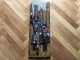 """Tablou,basorelief,sculptura in lemn """"Don Quijote de la Mancha"""""""
