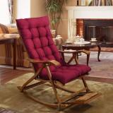 Balansoar de terasa/living lemn ajustabil cu cadru rezistent cu perna rosie