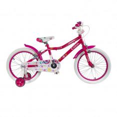 Bicicleta pentru fete Fashion Cool, 7-11 ani, Roz