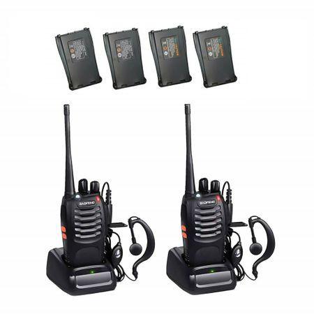 Set 2 Statii radio portabile emisie receptie PROGRAMATE cu 2 acumulatori suplimentari, Walkie Talkie, Baofeng BF-888S, programate in banda de licenta