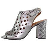 Cumpara ieftin Sandale dama piele naturala - Dogati shoes argintiu - Marimea 40