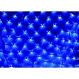 Instalatie de Craciun, 1,5 m x 1,5 m Plasa, Albastru, 120 leduri, plasa luminoasa, led, 6007B