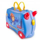 Valiza pentru copii Trunki Ride-On Paddington, Albastru