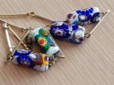 MURANO - colier sticla - lantisor - bijuterii unicat - placat aur