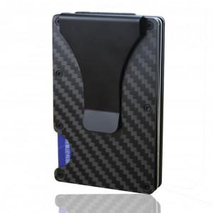 PORTOFEL aluminiu CARDURI protectie rfid PORT CARD contactless barbati metalic