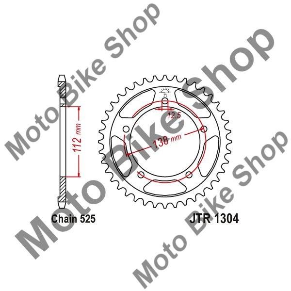 MBS Pinion spate 525 Z47, Cod Produs: JTR130447