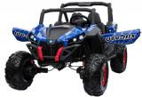 Cumpara ieftin Buggy electric pentru 2 copii Premier 4x4 Superstar, cu 2 baterii, roti cauciuc EVA, scaun piele ecologica, albastru spider
