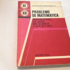 PROBLEME DE MATEMATICA PENTRU ELEVII DE LICEU  CLS A XI-A , XII-A  LIVIU PARSAN