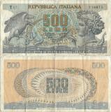 1967 ( 20 X ) , 500 lire ( P-93a.2 ) - Italia