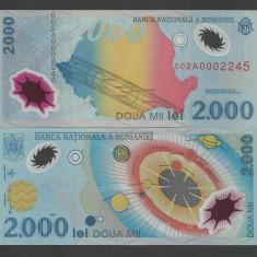 ROMANIA   2000  2.000  LEI 1999  UNC   ECLIPSA , Seria 002 A 000 ,  necirculata