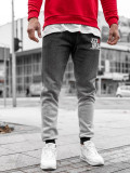Cumpara ieftin Pantaloni de trening bărbați gri Bolf AM036