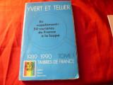 Catalog Yvert 1989-1990 Franta ,Andorra , Monaco ,ONU ,Serii gen. de Colonii