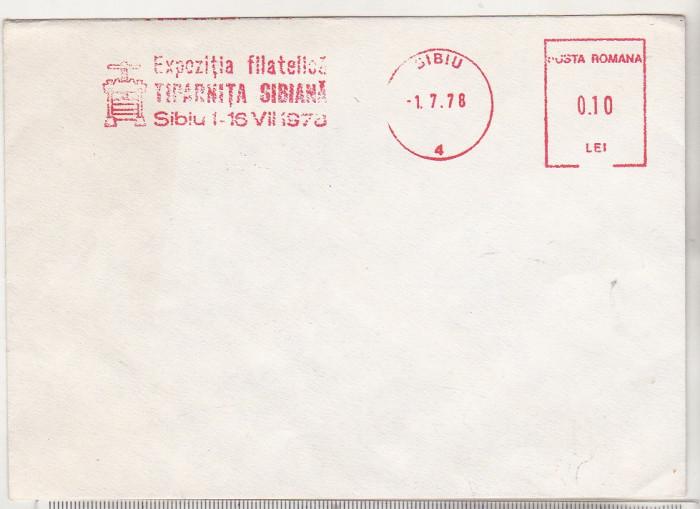 bnk fil Plic Expofil Tiparnita sibiana 1978 - marca de automat
