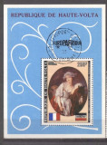 Haute Volta 1973 Paintings, perf.sheet, used AG.007, Stampilat