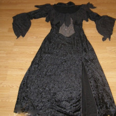 costum carnaval serbare rochie medievala contesa pentru adulti marime L-XL