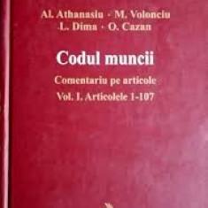 Al. athanasiu codul muncii vol 1+2