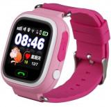 Ceas Smartwatch cu GPS Copii iUni Kid100, Touchscreen, Bluetooth, Telefon incorporat, Buton SOS, Roz