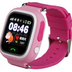 Ceas GPS Copii iUni Kid100, Touchscreen, BT, Telefon incorporat, Buton SOS, Roz