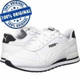 Pantofi sport Puma ST Runner 2 pentru barbati - adidasi originali - piele, 42, Alb, Piele naturala