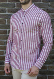 Cumpara ieftin Camasa tunica dungi vinisi - camasa tunica LICHIDARE STOC camasa slim #194, XL, Maneca lunga