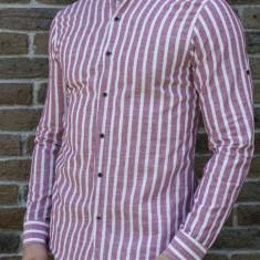 Camasa tunica - camasa slim fit camasa in dungi camasa barbat camasa de vara, S, XL, XXL, Maneca lunga, Din imagine