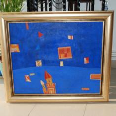 "Otînjac Sorin - Tablou pictura - ""Lumini si umbre"" artist iesean, Abstract, Acrilic, Cubism"