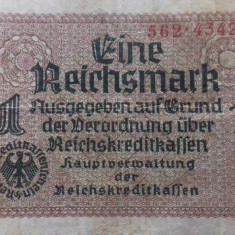 BANCNOTA 1 REICHSMARK 1938/1945(ND)-GERMANIA