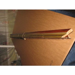 7320-I-Rama mare maronie cant auriu lemn-1.2 M/59 cm stare buna.