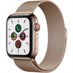 Smartwatch Apple Watch Series 5 GPS Cellular 44mm Gold Stainless Steel Case Gold Milanese Loop